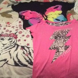 Lot of Justice Shirts(12 in Lil' Girls')